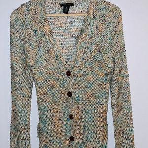 BCBG MaxAzria Multicolored Full Length Cardigan